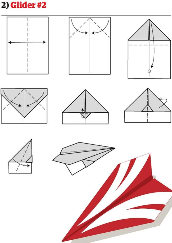 Как из бумаги сделать самолет пошаговая инструкция